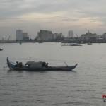 Atardecer desde el rio en Phnom Penh