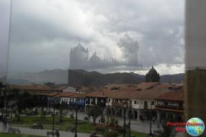 Reflejo de la catedral de Cuzco